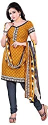 Swaman Women's Yellow Synthetic Dress Material(0729LAD00021,Yellow)