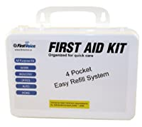 First Voice ANSI-25 25 Person Workplace Wall Mountable ANSI Compliant Plastic First Aid Kit