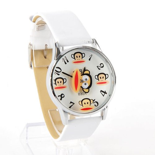 Paul Frank Girls Large Watch Wristwatch White