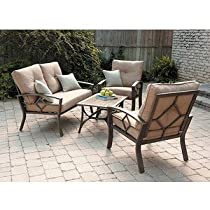 Hot Sale PATIO FURNITURE OUTDOOR LAWN & GARDEN KENNEDY 4 PC WITH CUSHIONS