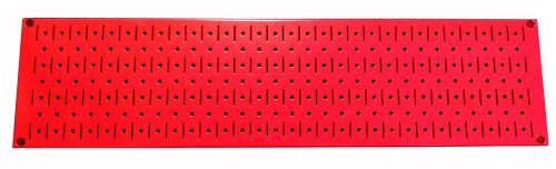 Wall Control Narrow Pegboard Rack 8in x 32in Red Metal Pegboard Runner Tool Board