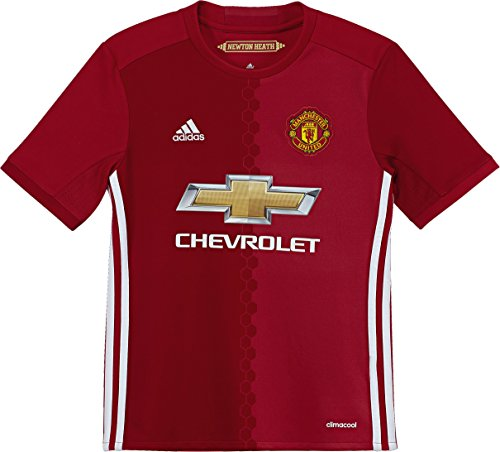 Adidas Soccer Manchester United Youth jersey, X-Large, Red/White (Manchester United White Jersey compare prices)