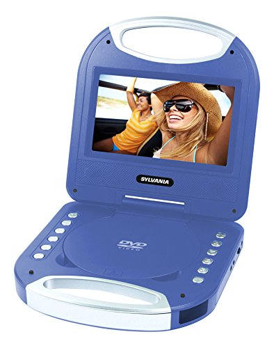 Sylvania SDVD7049 7-Inch Portable DVD Player with Handle, Blue (Portable Dvd Player Kids compare prices)