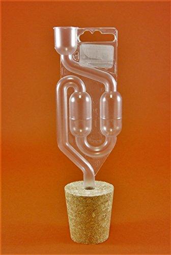 BOUCHON de LIèGE AVEC TROU 46/36mm+ BARBOTEUR Plastique | Bouchons | Bonde | Fermentation Bonde | Dame-Jeanne | Bonbonne | Levure de vin