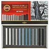 """12 Softpastellkreiden Pastellkreiden """"TOISON D'OR"""" in 12 Grautönen von KOH-I-NOOR Pastellkreide Set von KOH-I-NOOR"""