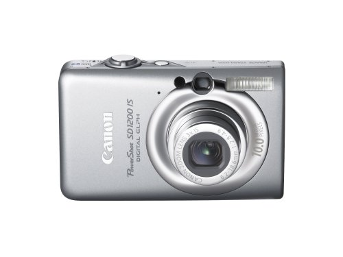 41qmIX7sZ4L Canon PowerShot SD1200IS 10 MP Digital Camera with 3x Optical Image Stabilized Zoom and 2.5 inch LCD (Dark Gray)