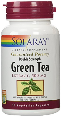 Solaray Green Tea Double Strength Capsule, 500mg, 30 Count (Solaray Green Tea Extract compare prices)