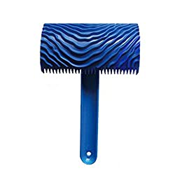 Magideal Wood Graining Pattern Rubber Painting Tool with Handle Wall Decor Blue06