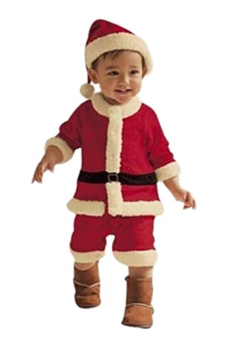PrettyKids Christmas Santa Claus Costume Outfit Unisex Baby Cute Suit