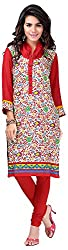INDIAN FASHION LADY Women's Cotton Kurtas (Ifl-112 , Red)
