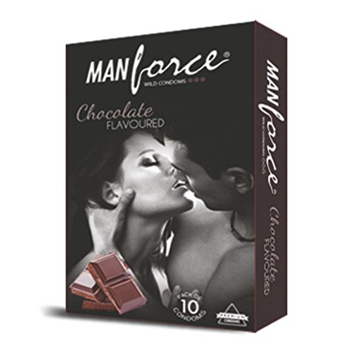 Manforce Extra Dotted condom - 10 Pieces (Pack of 2, Chocolate)  available at amazon for Rs.72