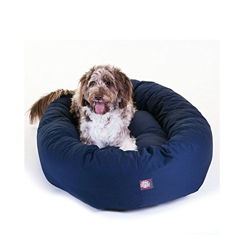 """Majestic Pet Products 52"""" Extra-large Bagel Donut Pet Bed for Dogs 70 - 110 Lb. (Blue)"""