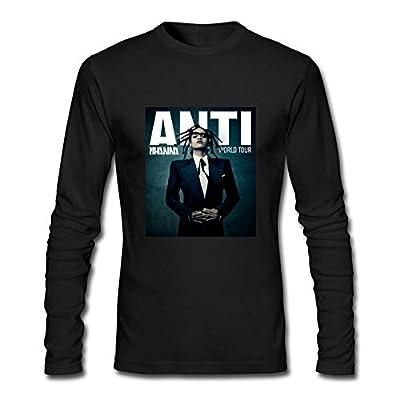 XIULUAN Men's Rihanna Travis Scott Anti World Tour 2016 Long Sleeve T-shirt