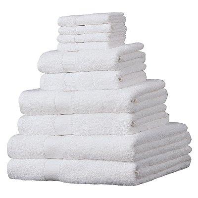 luxor-set-asciugamani-in-cotone-egiziano-100-10-pezzi-bianco