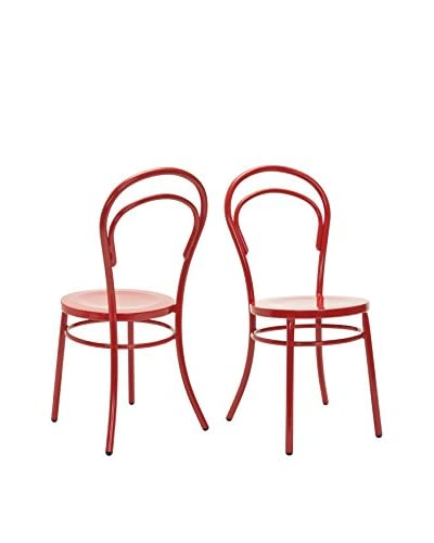 Safavieh Set of 2 Jane Side Chairs, Red