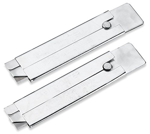 2-Piece-Single-Edge-Razor-Blade-Carton-Cutter-Box-Cutter-Knife-All-Metal-Tap-Knife-Retractable-And-Replaceable-Blade-By-Katzco