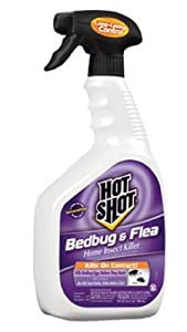 Hot Shot Bedbug and Flea Home Insect Killer Ready-to-Use Spray, 32-Ounce