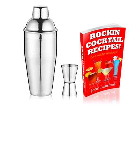 White Salmon Martini Cocktail Shaker Set With Strainer And Jigger Bonus Recipe Book Great Holiday Gift Bartender Tools Drink Mixer And Bar Drink Dispenser Drinking Glasses Home Boston Mudder (Recipe Book Set compare prices)