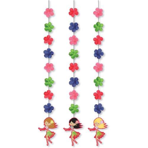 Lets Hula Luau Hanging Cutout - 3/Pkg