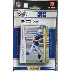 2012 Score Indianapolis Colts Factory Sealed 12 Card Team Set Including Andrew Luck