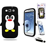 Generic Silicone Case Cover for Samsung Galaxy S3 i9300 - Black