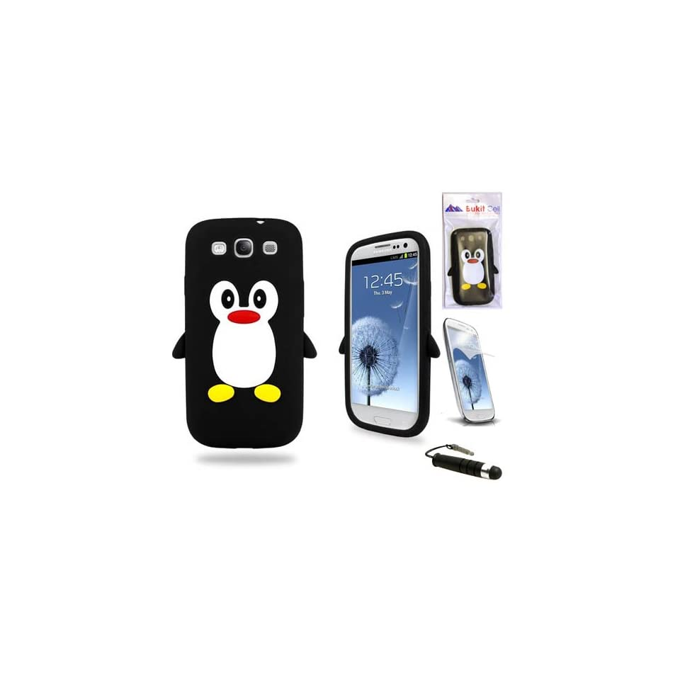 Generic Silicone Case Cover for Samsung Galaxy S3 i9300   Black