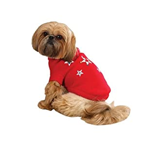Zack & Zoey Twinkling Stars Pet Sweater - Red from Zack & Zoey