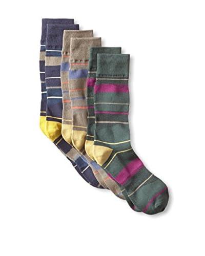 Florsheim Men's Stripe Socks - 3 Pack