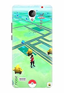 Noise Designer Printed Case / Cover for Vivo Y21L / Animated Cartoons / Pokemon Game Design