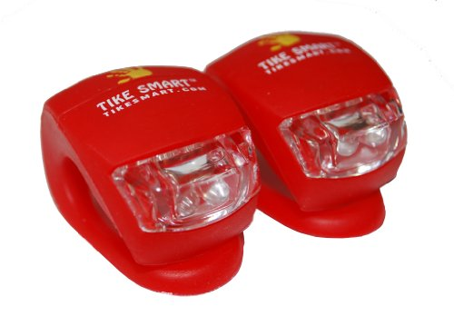 Stroller Safety Lights - Extra Bright Blinking dual-LEDs - 1 Pair - Money-back guarantee - Tike Smart