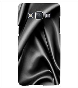 ColourCraft Black Satin Design Back Case Cover for SAMSUNG GALAXY E7