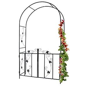 Jago rsbg01 arco giardino in ferro per rampicanti amazon for Arco decorativo giardino