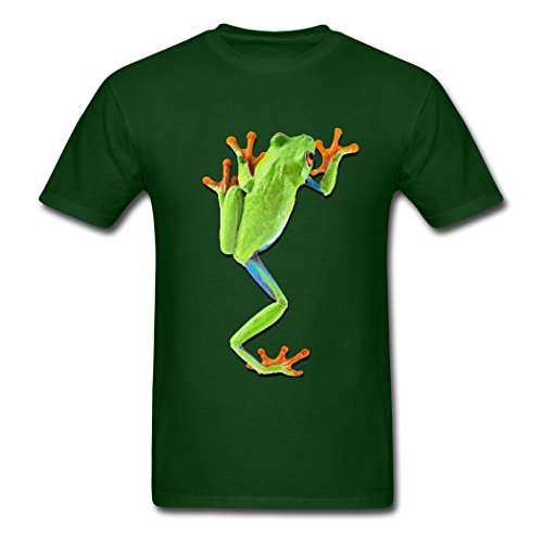 The Green Frog Clear Print Forest green Designed Men's T-shirt X-Large