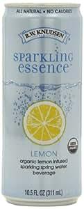 R.W. Knudsen Family Sparkling Essence Organic Lemon Sparkling Beverage, 4 Count (Pack of 6)