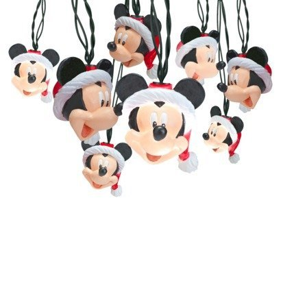 Decorative Disney Mickey Mouse with Santa Hat Christmas String Lights