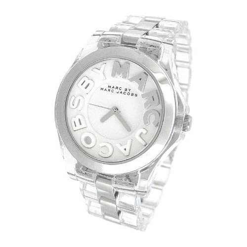 Amazon.com: Marc Jacobs Clear Acrylic and Silver Rivera Ladies Watch #