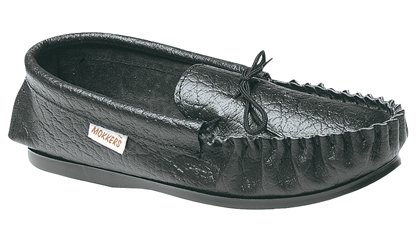 Men's Softie leather Moccasin slippers GORDON with hardwearing PVC sole