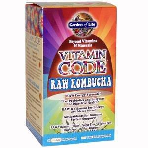 Vitamin Code Raw Kombucha - 60 - Veg Cap