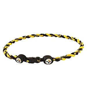 Pittsburgh Steelers Titanium (Double Braid) Core Sport Necklace