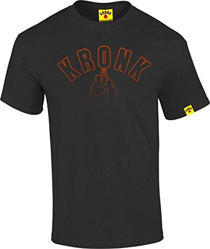 Kronk Vintage Look Outline Guanti da uomo Regular Fit T Shirt Black XX-Large