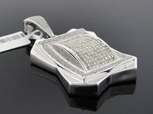 Designer Hip Hop Men's Charm Pendant 14k White Gold 8.25ct Diamond P-2418W