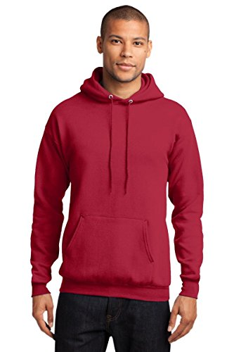 Port Company Classic Pullover Hooded Sweatshirt. - X-Large - Red