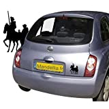Sticker voiture Don Quichotte - Gravissimo.fr...