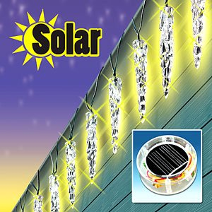 Solar Icicle Lights