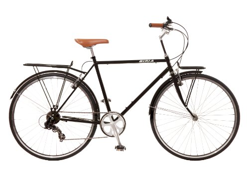 City Bike , Commuting bicycle 700C , Black , 7 speed Shimano Men by Biria