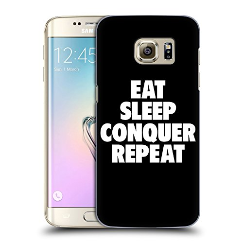 Official WWE Eat, Sleep, Conquer, Repeat Brock Lesnar Hard Back Case for Samsung Galaxy S7 edge