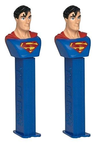 DC Comics Justice League Superhero PEZ Dispenser with Candy Refills, Pack of 2 (Superman) (Dc Pez Dispensers compare prices)