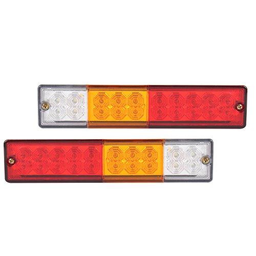 Forti USA   12V Waterproof 20 leds ATV Trailer Truck LED Tail Lights Lamps - Set of 2 (Small Led Trailer Lights compare prices)