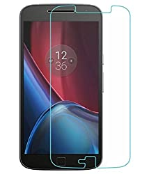 Motorola Moto G4 Plus Compatible Tempered Glass Screen Protector (Antishock, Curved Edged) (Pack of 2, Only Front Transparent Screen Protector) (Combo Offer, get a VJOY 2600 mAh Power-Bank PINK (1 Year Replacement Guarantee, Lithium Polymer Battery, Long Battery-Life) worth Rupee 999/- absolutely free with Screen Protector)