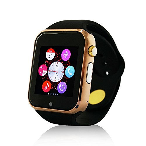 Yuntab Yuntab Smartwatch K9 Bluetooth Smart Watch with SIM Card, Wrist Wrap Watch Phone for IOS Apple Iphone 5s/6/6 Plus Android Samsung S4/s5/note 2/note 3 HTC (Gold)